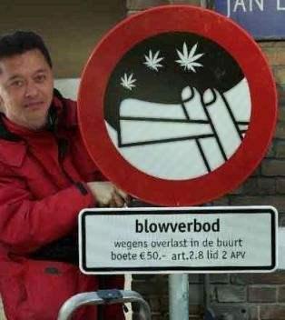 Blowverbod!