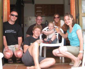 Ammer, Bar, Lucas en Erwin