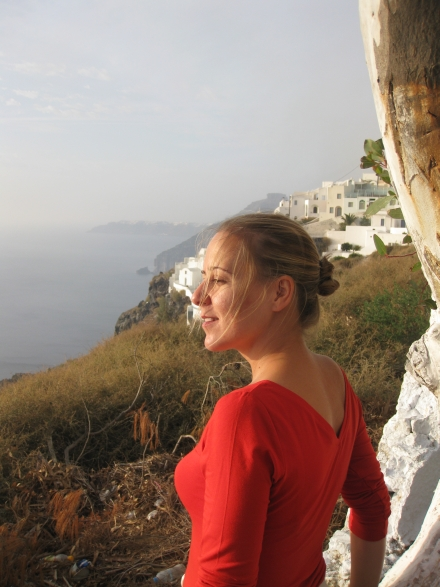 Ana in Santorini!