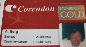 Corendon goldcard!