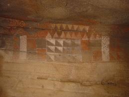 Beschilderingen in de grot van Galdar!