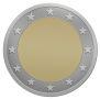 Empty euro coin!