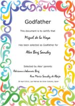 Godfather certificate!
