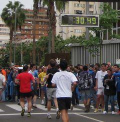 Gran Canaria Maraton 2010, van de finishtijd moet je 5 minuten aftrekken!