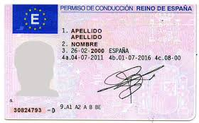 Spanish driving license!