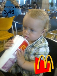 Alex in a McDonald advertisement!