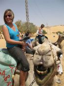 Ana riding a camel!